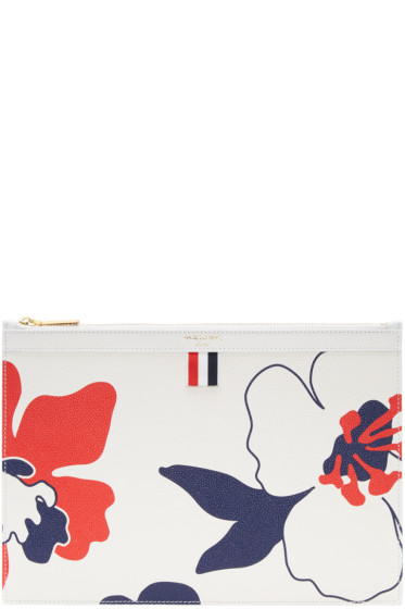 Thom Browne - Tricolor Small Floral Outline Tablet Holder