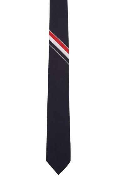 Thom Browne - Navy Classic Stripe Tie
