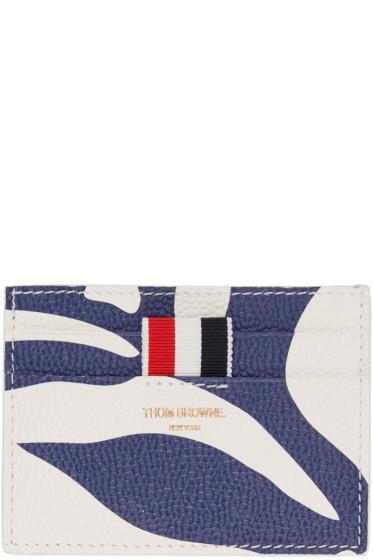 Thom Browne - Tricolor Floral Outline Single Card Holder