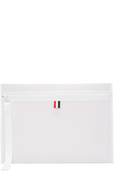Thom Browne - Off-White Neoprene Laptop Case