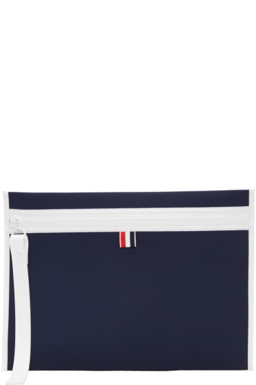 Thom Browne - Navy Neoprene Laptop Case