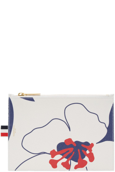 Thom Browne - Tricolor Large Floral Outline Coin Purse
