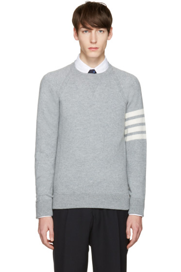 Thom Browne - Grey Cashmere Pullover