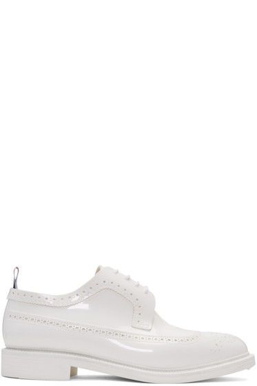 Thom Browne - White Rubber Classic Longwing Brogues