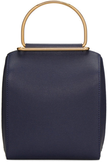 Roksanda - Navy Small Top Handle Bag