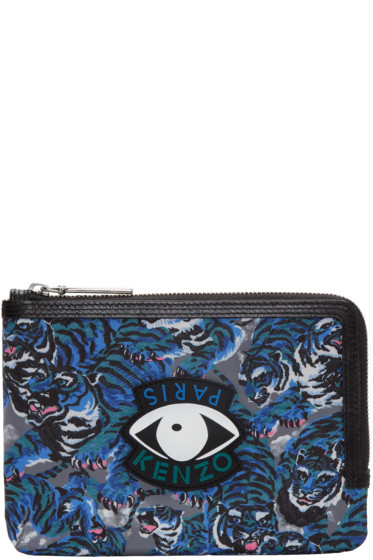 Kenzo - Blue Flying Tiger Eyes Pouch