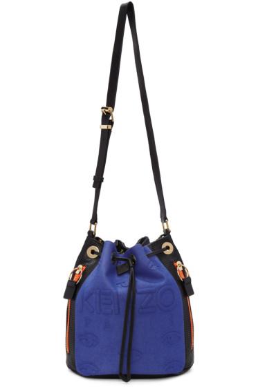 Kenzo - Blue & Black Kombo Bucket Bag