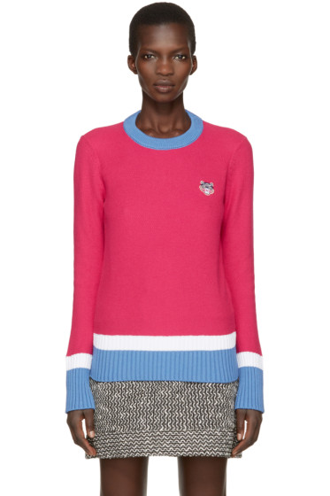 Kenzo - Pink Tiger Crest Pullover