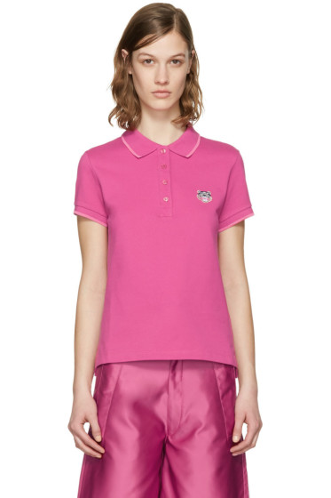 Kenzo - Pink Tiger Crest Polo