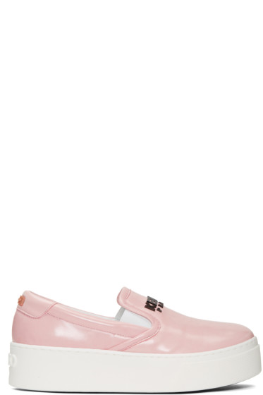 Kenzo - Pink Faux-Leather Sneakers