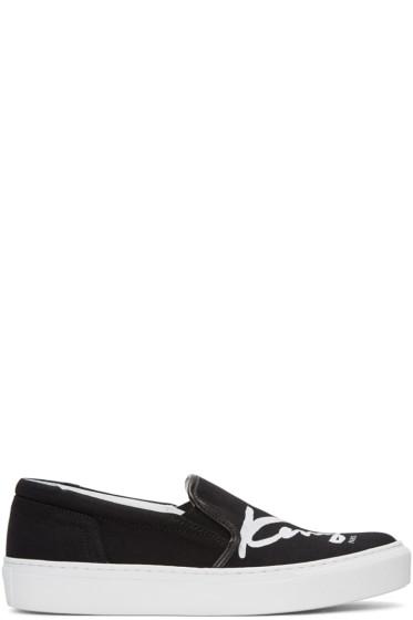 Kenzo - Black K-PY Signature Platform Slip-On Sneakers