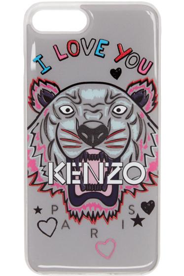 Kenzo - グレー I Love You タイガー iPhone 7 Plus ケース