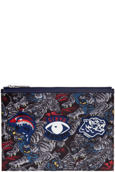 Kenzo - Grey Multi Icons Pouch