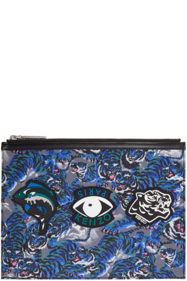 Kenzo - Green Multi Icons Pouch