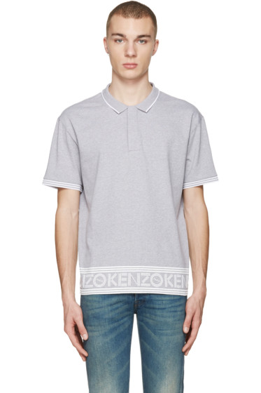 Kenzo - Grey Logo Hem Polo