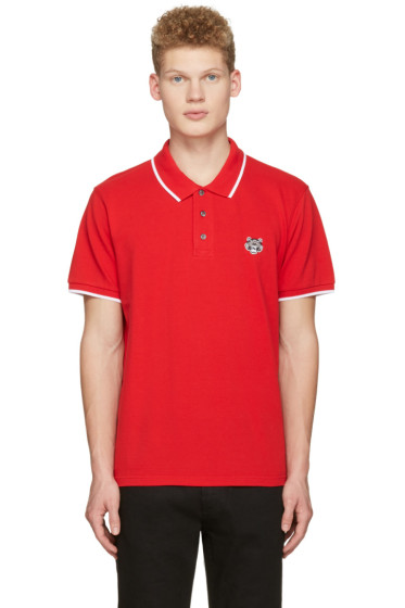 Kenzo - Red Tiger Patch Polo