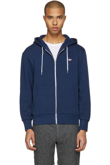 Maison Kitsuné - Blue Fox Patch Zip Hoodie