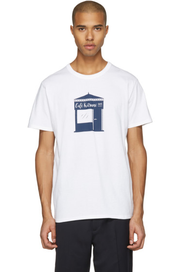 Maison Kitsuné - White Kiosque T-Shirt