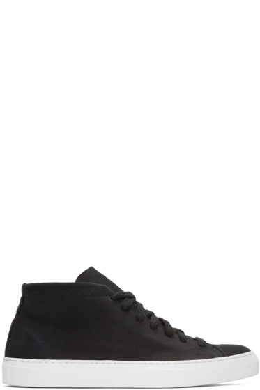 Diemme - Black Nubuck Loria Mid-Top Sneakers