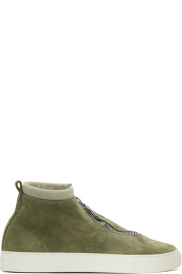 Diemme - Green Suede Fontesi High-Top Sneakers