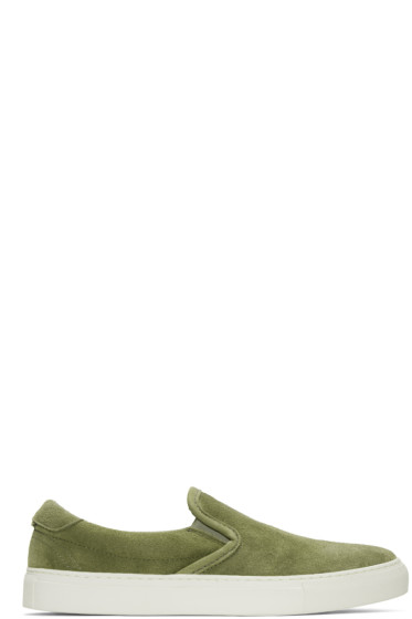 Diemme - Green Suede Garda Slip-On Sneakers