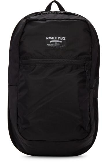 Master-Piece Co - ブラック ナイロン インサイド ストレージ バックパック