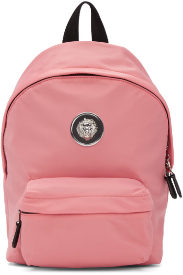 Versus - Pink Nylon Lion Backpack