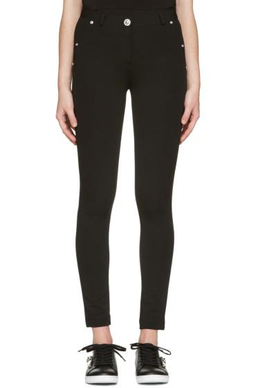 Versus - Black Skinny High-Rise Trousers