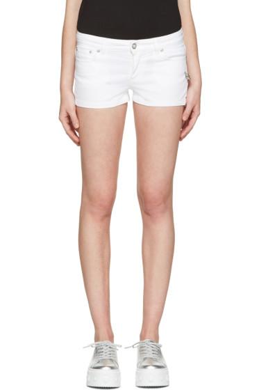 Versus - White Denim Double Pin Shorts