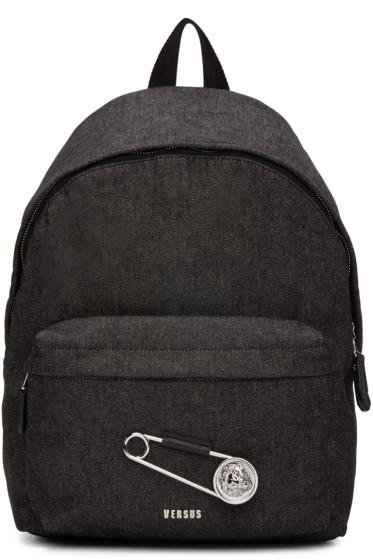 Versus - Black Large Safety Pin Backpack