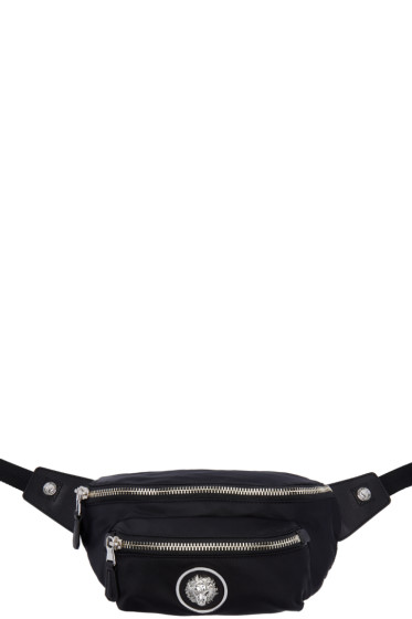 Versus - Black Lion Medallion Hip Pouch