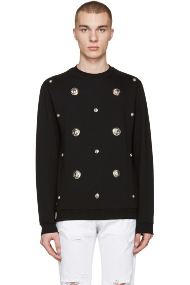 Versus - Black Lion Medallion Pullover