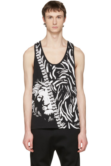 Versus - Black Large Lion Tank Top