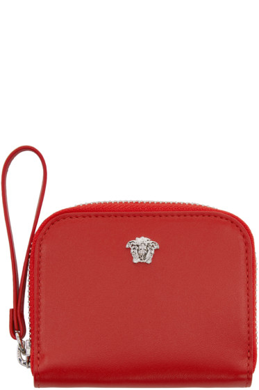 Versace - Red Medusa Zip Wallet