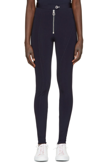 Versace - Navy Zip Front Leggings