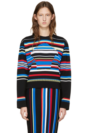 Versace - Multicolor Striped New York Pullover