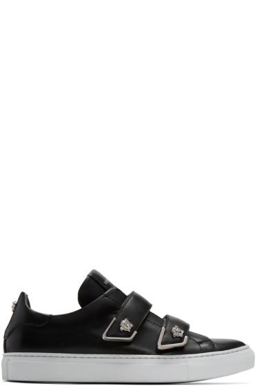Versace - Black Double Strap Medusa Sneakers