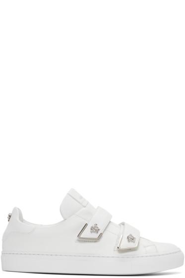 Versace - ホワイト ダブル ストラップ メドゥーサ スニーカー