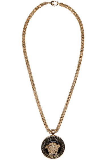 Versace - Gold & Black Medusa Chain Necklace