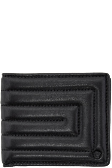 Versace - Black Quilted Medusa Wallet