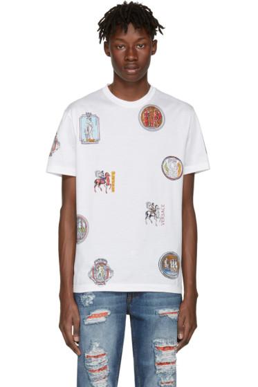 Versace - White Greek Patch T-Shirt