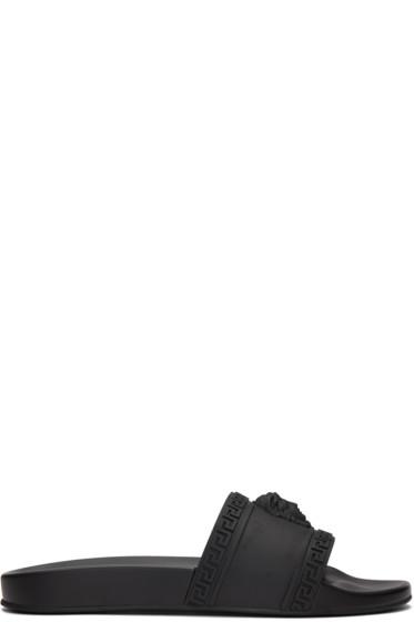 Versace - Black Medusa Slide