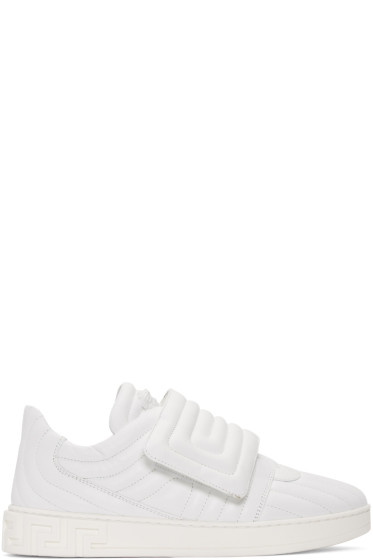 Versace - White Quilted Medusa Sneakers