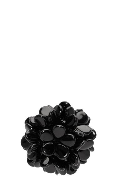 Simone Rocha - Black Beaded Ball Earring