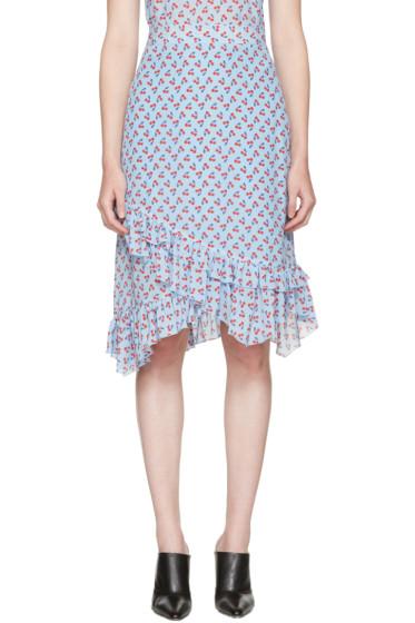 Altuzarra - Blue Maxwell Cherry Skirt