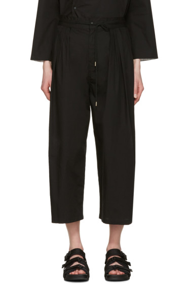 Sasquatchfabrix - Black Wide Trousers