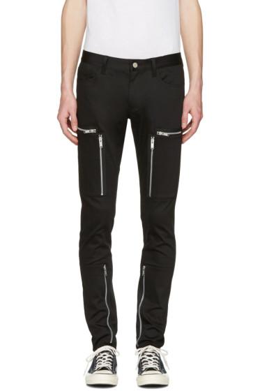 Undercover - Black Zipper Pocket Trousers