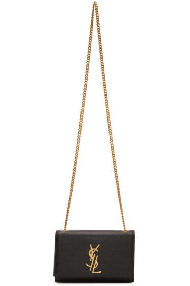 Saint Laurent - Black Small Deconstructed Monogram Kate Chain Wallet Bag