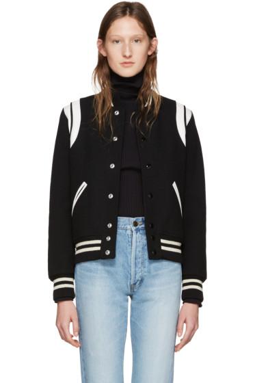 Saint Laurent - Black Teddy Bomber Jacket