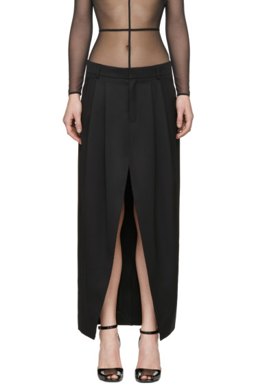 Saint Laurent - Black Deconstructed Skirt